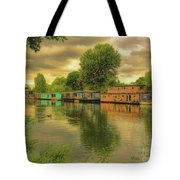 At Home On The River Tote Bag