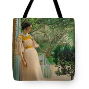 At The French Windows. The Artist's Wife Tote Bag