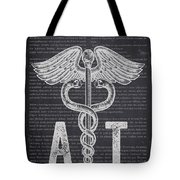 Athletic Trainer Gift Idea With Caduceus Illustration 02 Tote Bag
