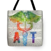 Athletic Trainer Gift Idea With Caduceus Illustration 03 Tote Bag