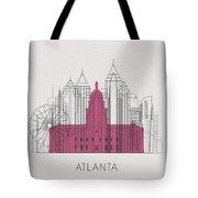 Atlanta Landmarks Tote Bag