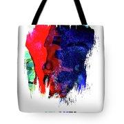 Atlanta Skyline Brush Stroke Watercolor   Tote Bag