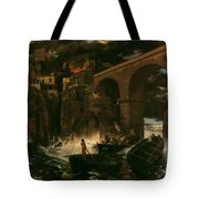 Attack By Pirates Tote Bag