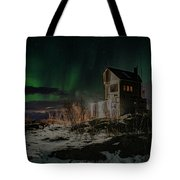 Aurora Borealis Over Harstad Tote Bag