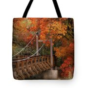 Autumn Across The Bridge  Tote Bag