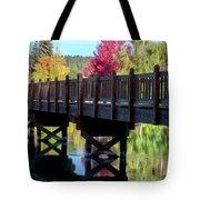 Autumn Bridge Tote Bag by David Millenheft