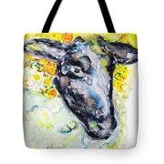 Autumn Crown Sheep Tote Bag by Monique Faella
