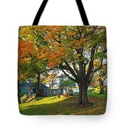 Autumn Day In The Salem Willows Salem Ma Red Tote Bag