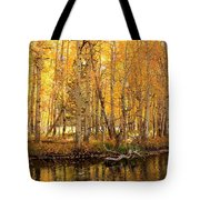 Autumn Gold Rush Tote Bag by Sean Sarsfield