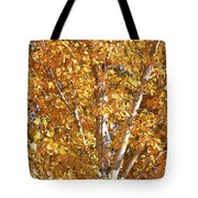 Autumn Golden Leaves Tote Bag