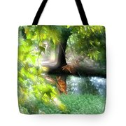 Autumn Leaves In The Morning Light Tote Bag
