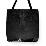 Autumn Night - Sauble Beach - Two Galaxies Bw Tote Bag