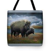 Autumn Plains Bison Tote Bag