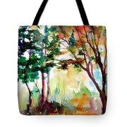 Autumn Trees Watercolors Tote Bag