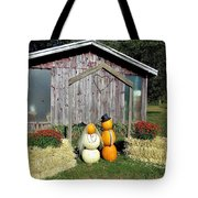 Autumn Wedding In The Pumpkin Patch Tote Bag