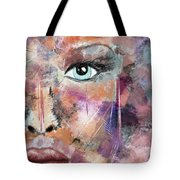 Autumn - Woman Abstract Art Tote Bag