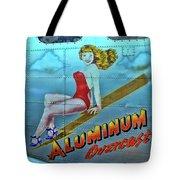B - 17 Aluminum Overcast Pin-up Tote Bag