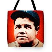 Babe Ruth, Portrait Tote Bag