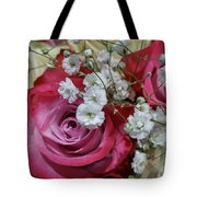 Baby's Breath And Roses Tote Bag
