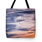 Back To The Sky Tote Bag