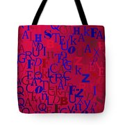 Background With Letters Over Purple Backlight Tote Bag