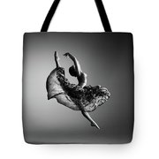 Ballerina Jumping Tote Bag