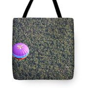 Balloon Over Forest Tote Bag