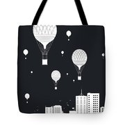 Balloons And The City Tote Bag
