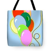 Balloons Of Loose Colors Tote Bag