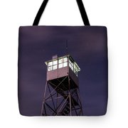 Balsam Lake Mountain Firetower  Tote Bag by Brad Wenskoski