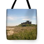 Bamburgh Castle And Beach In Summer Tote Bag