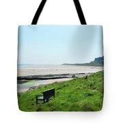 Bamburgh Castle And Beach Tote Bag