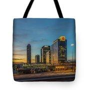 Banking Giants Too Atlanta Midtown Sunset Atlanta Georgia Art Tote Bag
