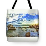 Bansai Rock, Lake Tahoe, Nevada, Panorama Tote Bag