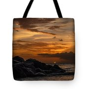Barbados Sunset Clouds Tote Bag