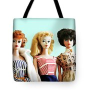 Barbies On Blue Tote Bag