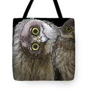 Barking Owls 2 Tote Bag
