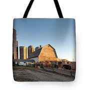 Barn And Silos Tote Bag