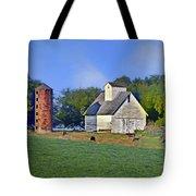 Barn - Silo - Cows Tote Bag