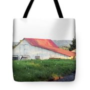 Barn With Red Roof Tote Bag
