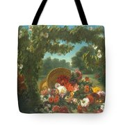 Basket Of Flowers  Tote Bag