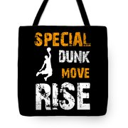 Basketball Sports Player Special Dunk Move Rise Gift Idea Tote Bag