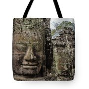 Bayon Faces, Angkor Wat, Cambodia Tote Bag