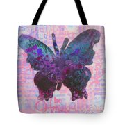 Be Happy Butterfly Tote Bag
