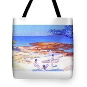 Beach At Cabasson - Digital Remastered Edition Tote Bag