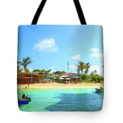 Beach Front At Island Harbour Anguilla Tote Bag by Ola Allen