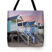Beach Huts Sunset Tote Bag