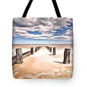 Beach Perpective Tote Bag