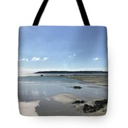Beach Scene On A Sunny September Afternoon  Tote Bag