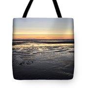 Beach Sunset, Blackpool, Uk 09/2017 Tote Bag